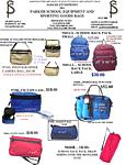 SCHOOL AND SPORTING GOODS BAG CATALO